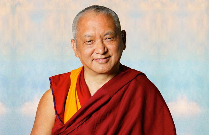 (10546_ud.psd) Portrait of Kyabje Lama Zopa Rinpoche taken in Portland, Oregon by John Berthold, 2006.